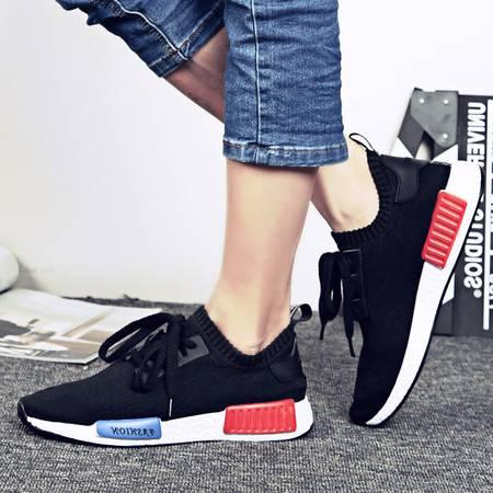 2016夏季新款缓震飞织跑鞋 防滑耐磨运动鞋男