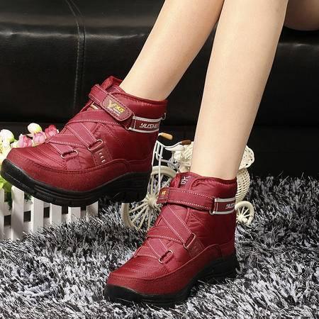 秋冬季雪地靴女鞋加厚保暖棉靴学生棉鞋靴子
