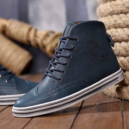 沙漠工装靴男军靴 真皮复古马丁靴男短靴英伦男靴子