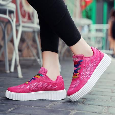 2016夏款摇摇鞋潮鞋韩版网布透气套脚女鞋 运动休闲鞋健身鞋单鞋