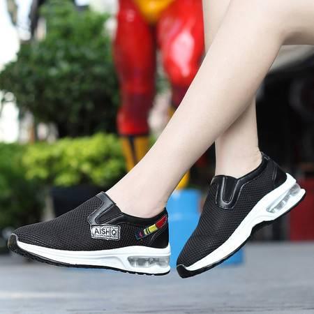 远步2016懒人低帮黑色韩版帆布鞋休闲风单鞋女学生平底板鞋学院潮