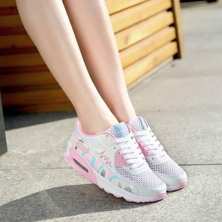 运动鞋女韩版跑步鞋子女夏季气垫鞋女透气网鞋女百搭休闲鞋旅游鞋