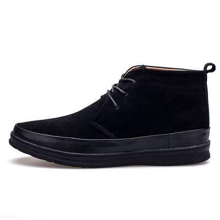 2016新款冬季中邦男鞋时尚潮流休闲棉鞋英伦板鞋加绒保暖靴高帮鞋
