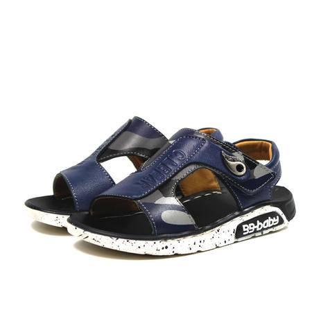 夏季新款男童凉鞋真皮儿童沙滩鞋子