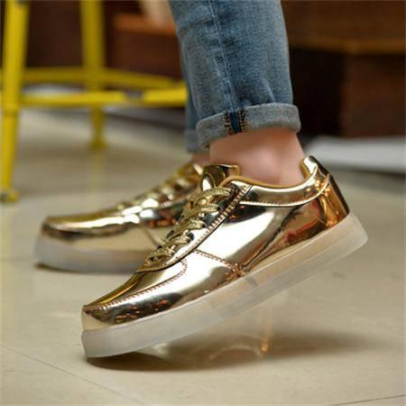 夏季正品7彩色发光鞋LED灯鞋发光鞋女情侣鞋会发光的鞋充电鞋子