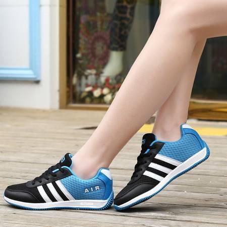 运动鞋女2016夏季新款网面透气跑步鞋女轻便休闲旅游鞋