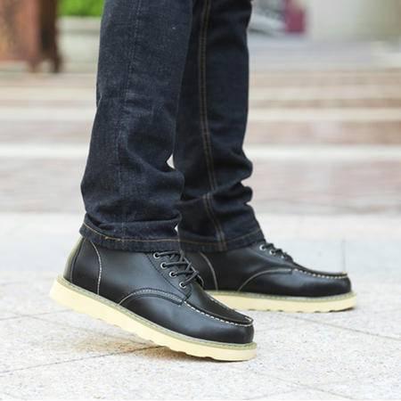 夏季男士马丁靴男英伦短靴真皮靴子男高帮鞋工装靴男鞋