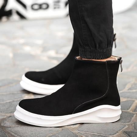 新款男牛皮高帮鞋时尚潮流男靴