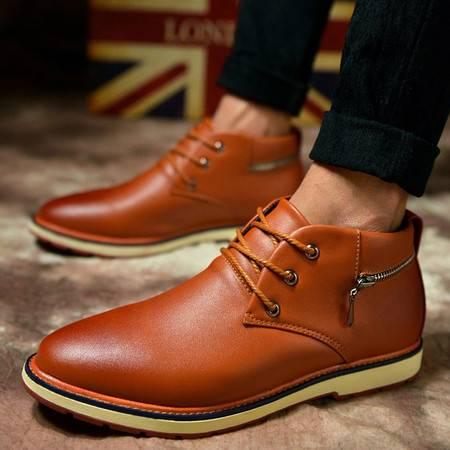 男短靴马丁靴男靴子男士正装男鞋高帮皮鞋子