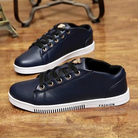  爆款男鞋潮流板鞋休闲全真皮鞋男式牛皮鞋高帮男鞋子个性中帮潮鞋