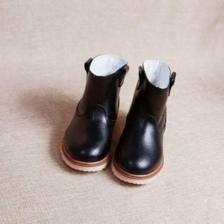  秋冬真皮男童女童儿童马丁靴皮鞋靴子