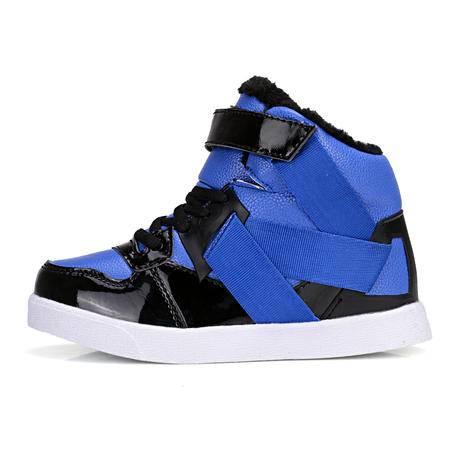 冬季新款保暖棉鞋童鞋潮流大小童板鞋流行男童休闲鞋高帮雪地靴