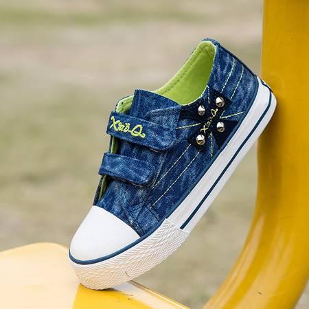 童鞋2016春秋热卖儿童低帮帆布鞋男女童