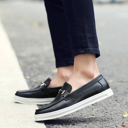 夏季休闲鞋商务皮鞋男士小皮鞋英伦风时尚潮流透气男鞋子夏天潮鞋