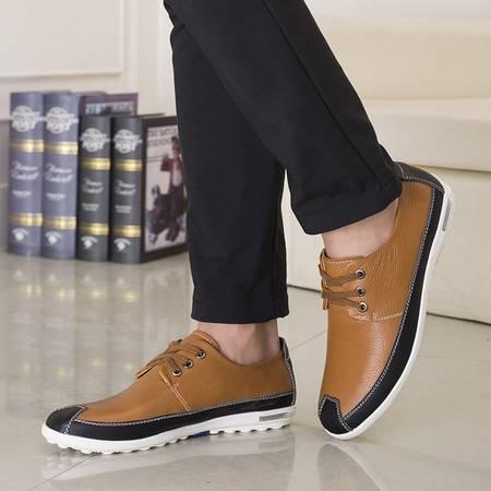 鞋子男士皮鞋男鞋夏季休闲鞋真皮透气英伦风新款时尚青年潮鞋