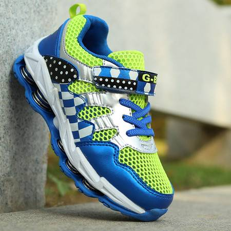 包邮2016新款男童鞋夏季透气网鞋弹簧鞋儿童防滑减震男大童运动鞋