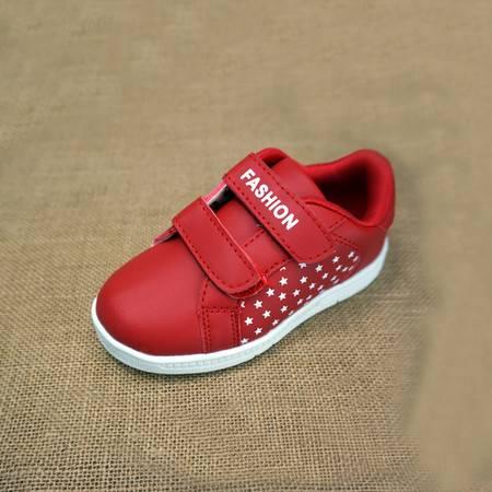 魔术贴小白板鞋透气运动儿童鞋秋夏季