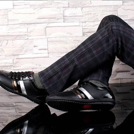 2016年新款男鞋,英伦休闲透气防臭男鞋,亮皮头层纳帕黄牛皮鞋