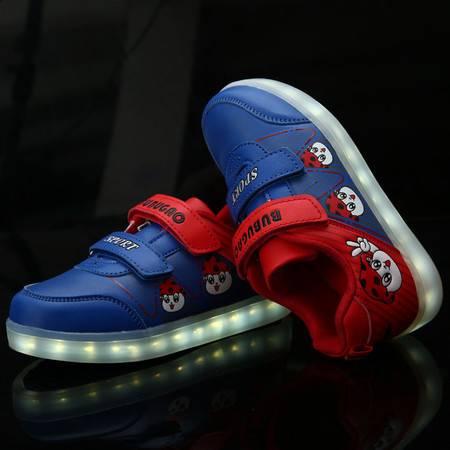 儿童运动鞋男童鞋 2016秋新款闪灯鞋单鞋宝宝休闲鞋旅游鞋