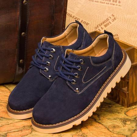 春季男士休闲鞋潮鞋冬季英伦工装鞋大头鞋反绒皮男鞋鞋子男