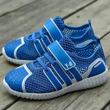 2016新款夏季童鞋透气儿童运动鞋网布鞋男