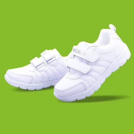  春秋运动鞋儿童防水板鞋白色鞋韩版男女童鞋