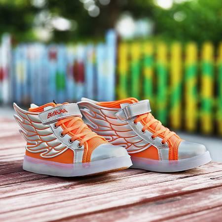 四季鞋童鞋翅膀鞋充电闪灯鞋儿童发光鞋七彩灯鞋男女童棉鞋运动鞋