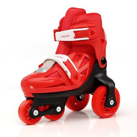 正品溜冰鞋儿童全套装直排轮滑鞋旱冰鞋平行滑冰鞋可调节双排后轮