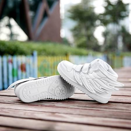 儿童翅膀鞋2016新款白色男童女童表演街舞运动童鞋