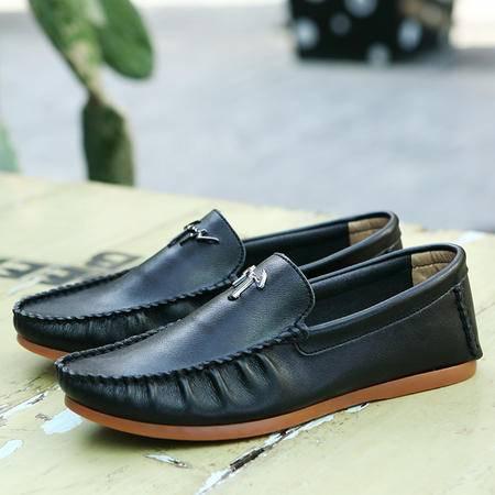 夏季新款英伦男鞋流苏套脚皮鞋透气男士休闲鞋低帮商务牛皮鞋子潮