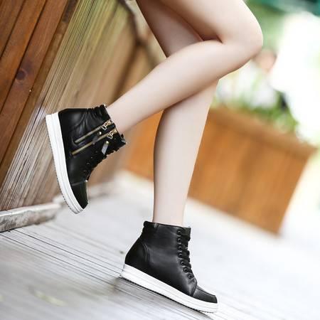 2016新款韩版潮运动内增高女鞋白色春秋百搭休闲单鞋小白鞋