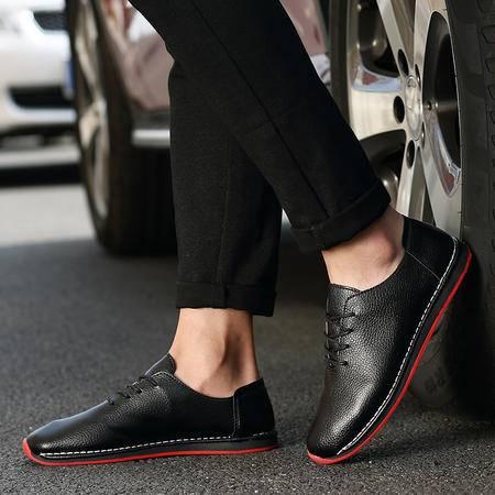夏季新款英伦男鞋皮鞋透气男士休闲鞋低帮商务牛皮鞋子潮