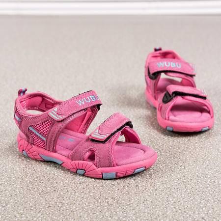 男女童真皮凉鞋夏季儿童凉鞋中大童学生沙滩鞋潮