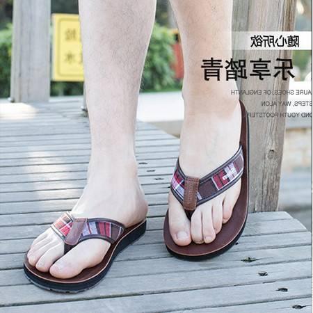 韩版男士人字拖男夏学生夹脚凉拖鞋厚底防滑沙滩鞋潮