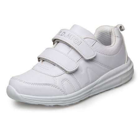 春秋运动鞋儿童防水板鞋白色鞋韩版男女童鞋韩版学生鞋