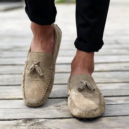 夏季男士驾车鞋韩版潮流豆豆鞋时尚新款软底休闲懒人鞋子透气