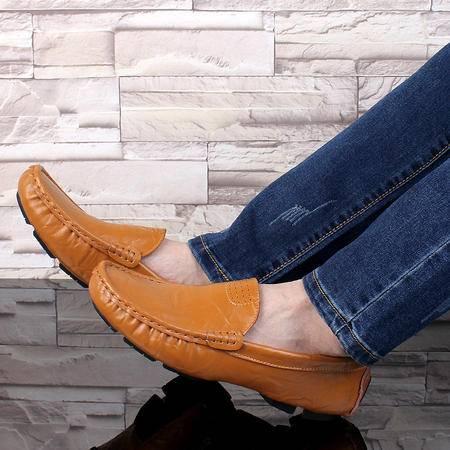 2016年春秋季新款一脚蹬驾车鞋男软皮豆豆鞋男真皮休闲皮鞋懒人鞋