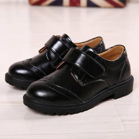 夏季童鞋皮鞋男女童黑色表演出鞋小学生礼服舞蹈鞋儿童厚底增高鞋