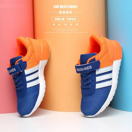 儿童网鞋男童夏季透气网面跑步运动鞋女童网鞋韩版学生休闲鞋大童