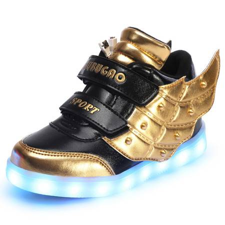 儿童发光鞋男童女童带灯童鞋七彩闪光亮灯鞋