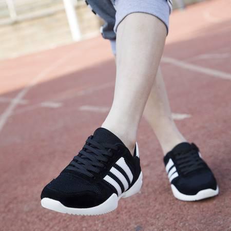 夏季男鞋情侣运动休闲鞋男士透气网面鞋夏天轻便跑步鞋子