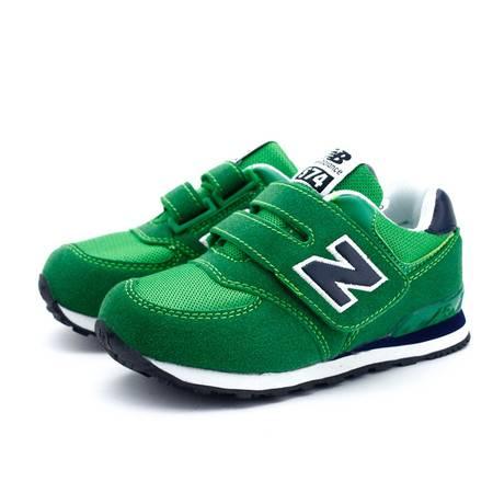 夏季男女时尚英伦风中大童透气n字母跑步鞋