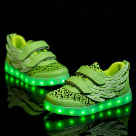 充电灯鞋男女童舒适透气网布防滑耐磨休闲鞋