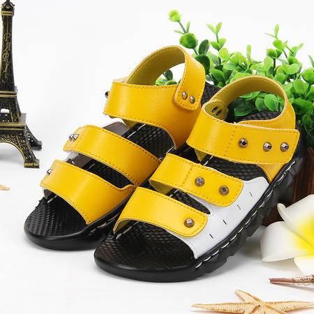 夏款男童凉鞋 儿童沙滩鞋 柔软舒适学生凉鞋 童鞋男童