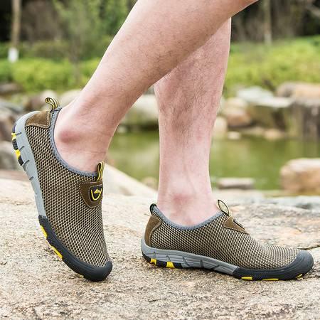 新款夏季网面透气男鞋休闲套脚鞋轻便户外鞋耐磨运动鞋潮跑步鞋子