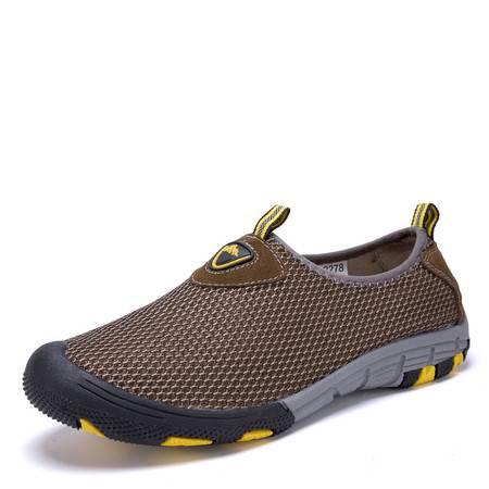 夏季透气网鞋男 网面鞋休闲鞋单布鞋运动网眼鞋 跑步懒人套脚鞋子