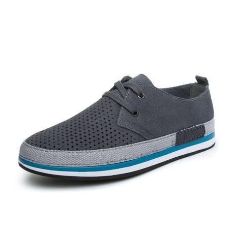 夏季新款男士休闲鞋男鞋真皮透气鞋英伦潮鞋低邦复古鞋板鞋四季鞋