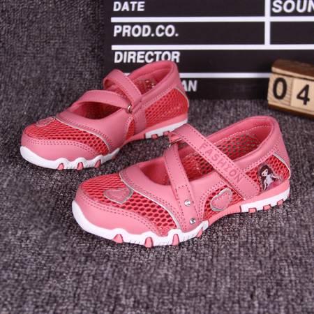 夏季儿童鞋子女童网鞋网面透气运动鞋凉鞋女孩网眼休闲跑步公主鞋