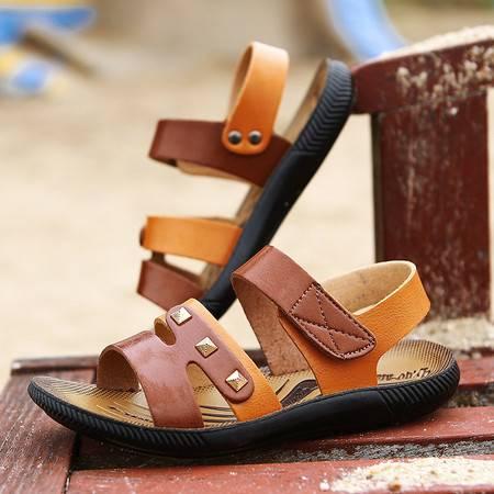 男中大童凉鞋 男童夏2016新款沙滩男童凉鞋