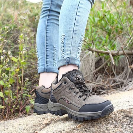 山地鞋气女鞋户外鞋防水耐磨徒步鞋防滑情侣登山鞋男鞋秋冬加棉透